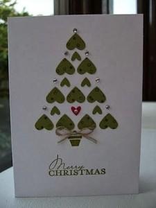Cartão romântico – Árvore de natal de corações