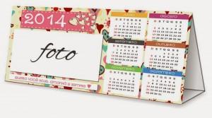 Calendário Personalizado 2014 para imprimir