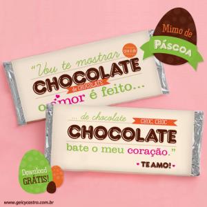Rótulo para barras de chocolate