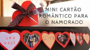 Cartão sanfonado de corações