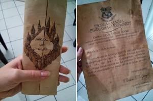 Presente inspirado em Harry Potter