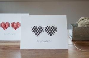 hearts stitched together10 Inspire se! 10 Dicas Coloridas/Dia dos Namorados