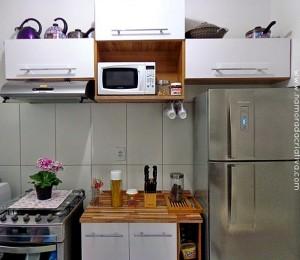 Como aplicar papel de parede na cozinha + Sorteio