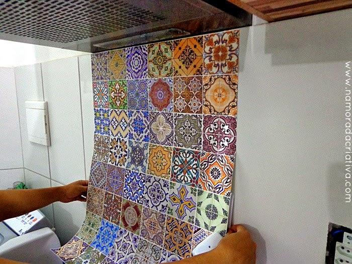 Como aplicar papel de parede na cozinha sorteio for Como colocar azulejo
