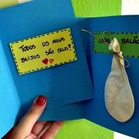 Uma base, vários cartões! Cartão Todos os beijos e Cartão Balão