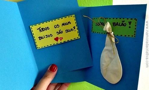 Cartão 'Todos os Beijos' e 'Cartão Balão'