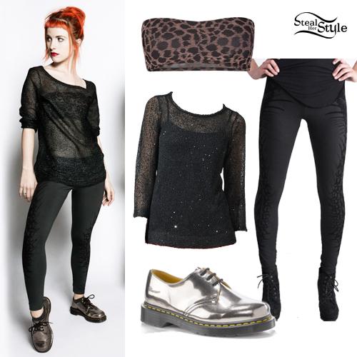 hayley-williams-skeleton-leggings-outfit