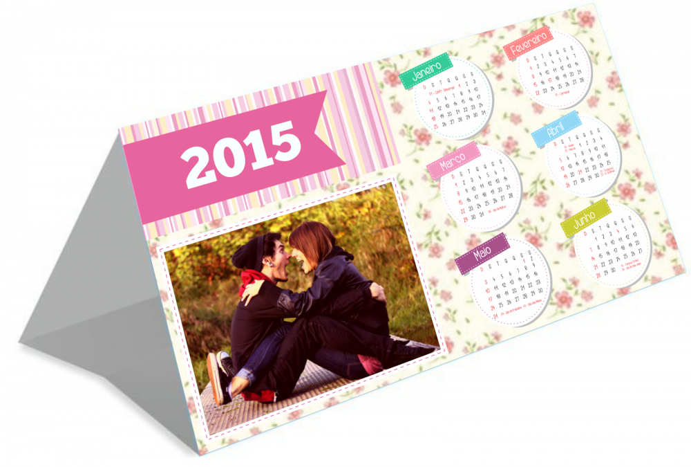Calend rio de mesa personalizado 2015 namorada criativa - Calendario de mesa ...