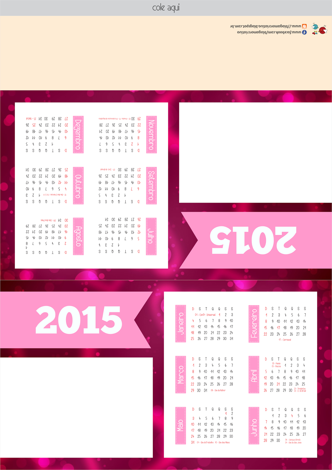calend u00e1rio de mesa personalizado 2015