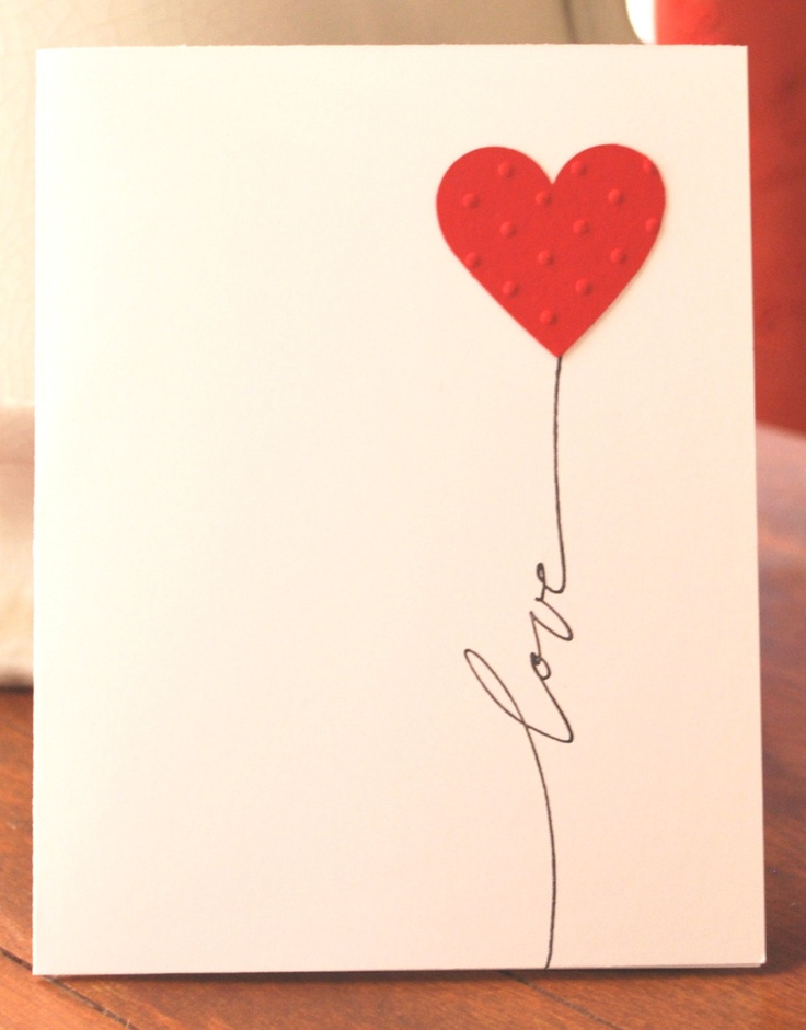 cartão coração simples