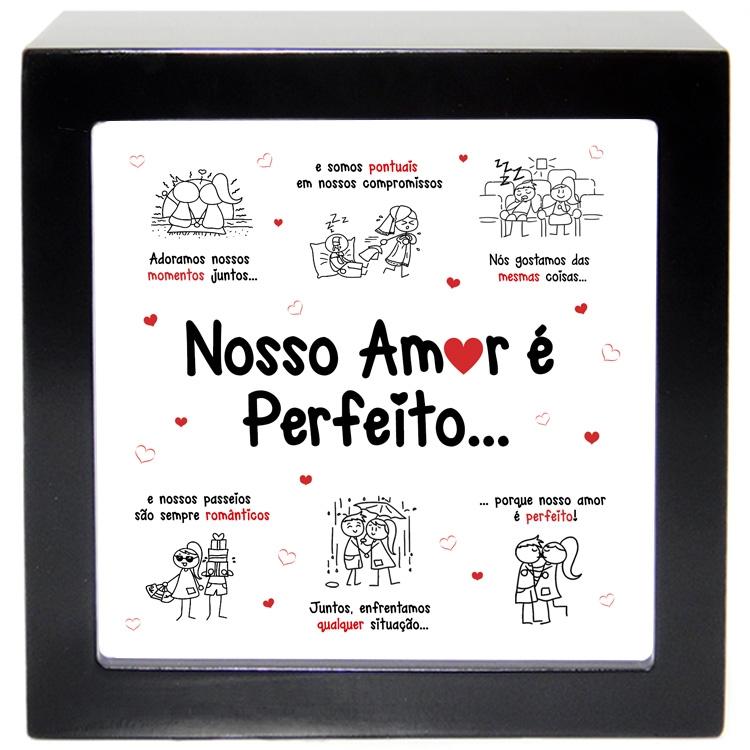 são quadro box amor perfeito e o quadro box melhor namorado do mundo
