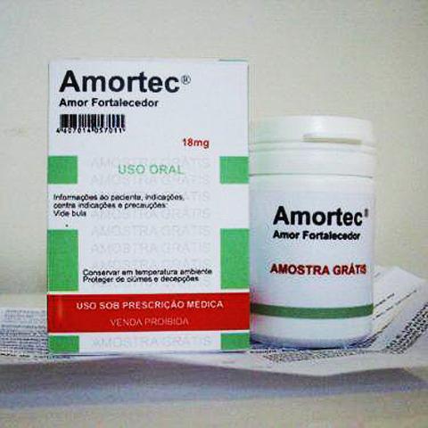 Embalagem e bula editáveis de AMORTEC
