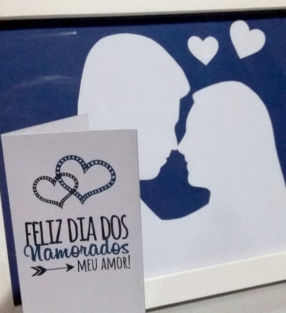 DIY Dia dos Namorados: Quadrinho personalizado + Cartãozinho