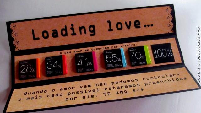 cartão dia dos namorados chocolate