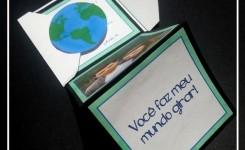 """DIY: Cartãozinho """"Você faz meu mundo girar!"""""""