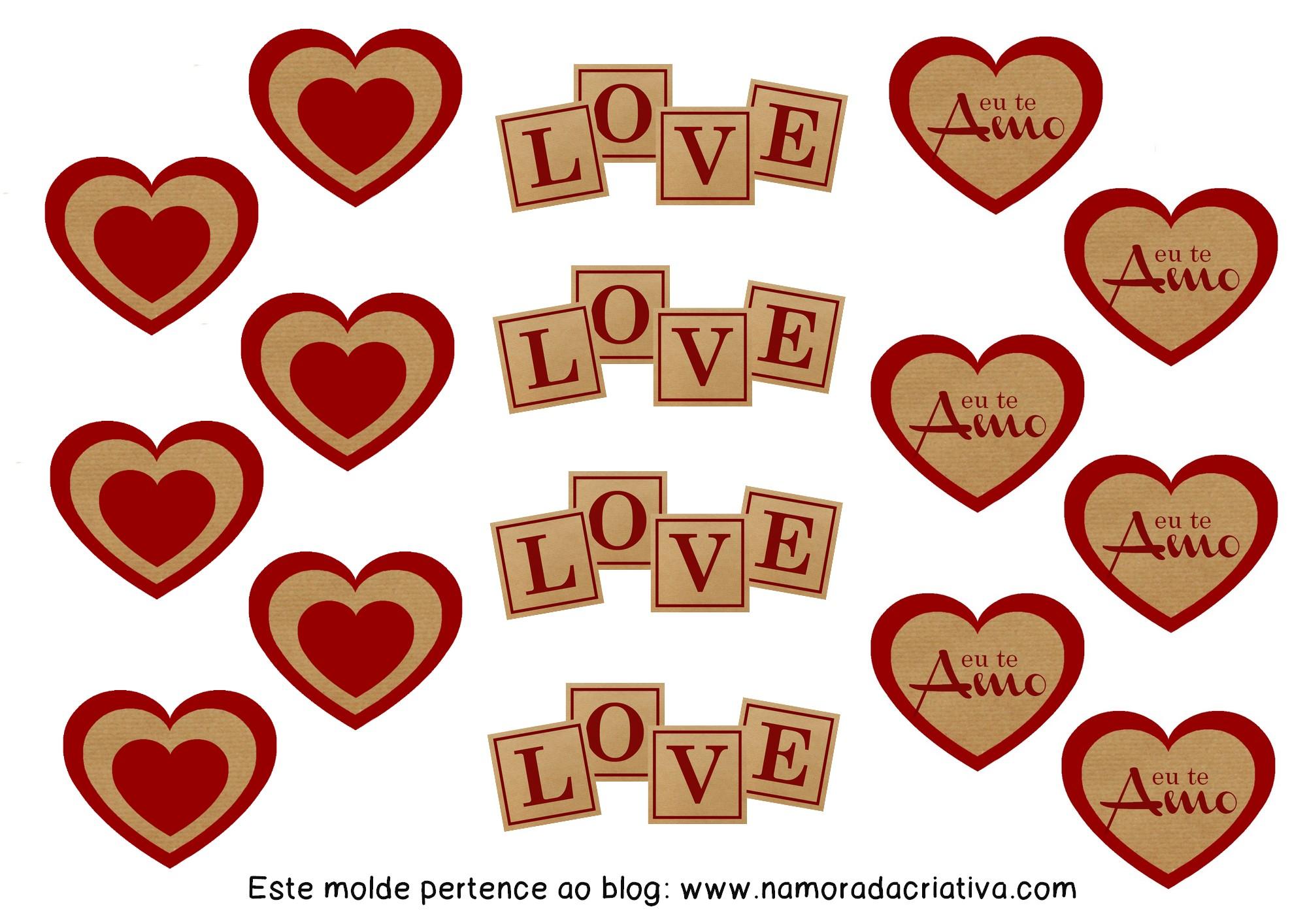 DIYs, Dicas e Inspirações Supresa para Namorados - Molde Toppers