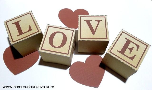 DIYs, Dicas e Inspirações Supresas Namorados - DIY Cubos Love - Inicial