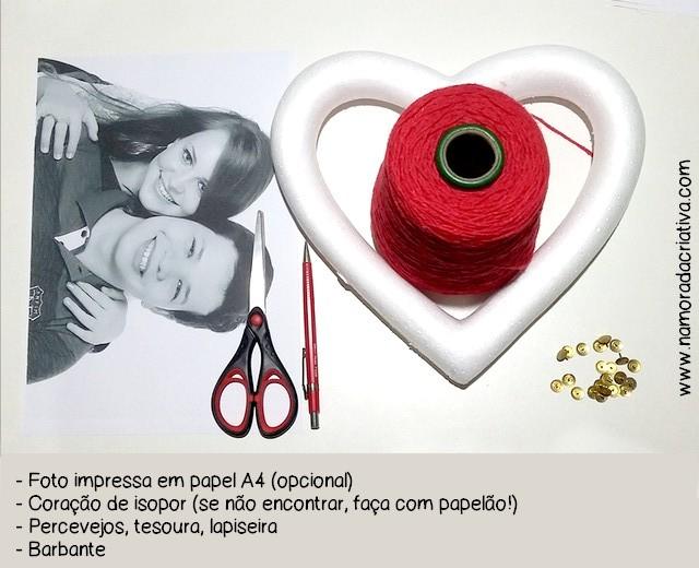 DIYs, Dicas e Inspirações Supresas Namorados - Materiais DIY Coração com barbante