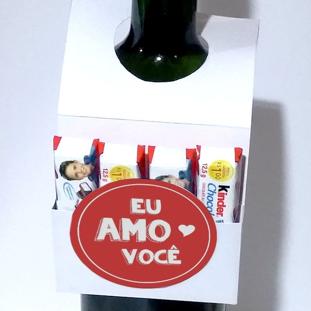 DIY: Porta-chocolates para garrafa de bebida