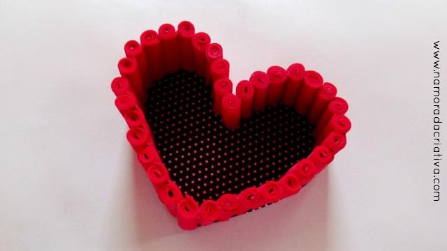 Diy Cestinha Em Formato De Coração Namorada Criativa Por