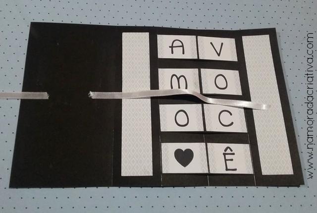 DIY - Cartão Amo Você - Namorada Criativa - 08