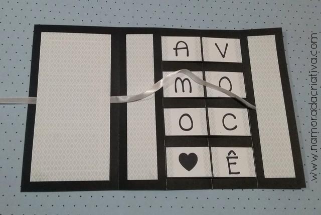 DIY - Cartão Amo Você - Namorada Criativa - 09