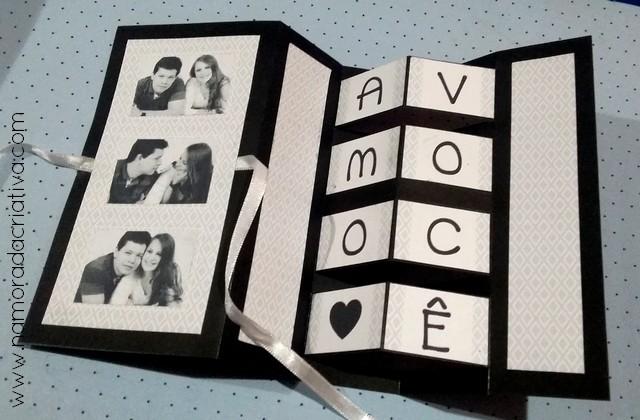 DIY - Cartão Amo Você - Namorada Criativa - 14