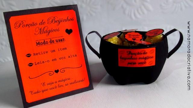 DIY Halloween: Caldeirão com porção de beijinhos mágicos