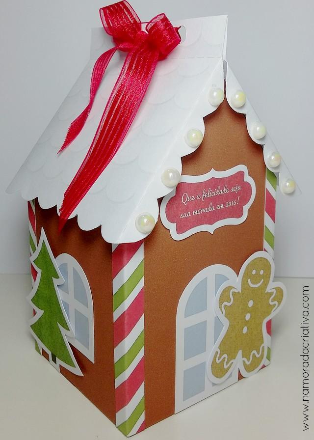 Diy Caixinha Casinha Para O Natal Namorada Criativa Por Chaiene