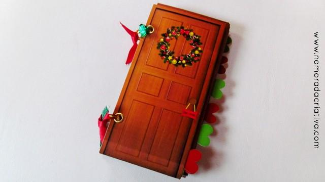 DIY Mini álbum: Abra a porta para o ano novo