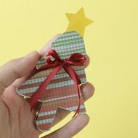 DIY: Álbum miniatura em formato de árvore de Natal