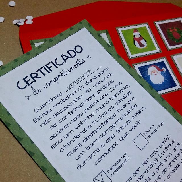 DIY – Natal: Certificado de Comportamento