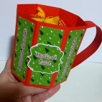 "DIY: ""Receita de Natal"" – Xícara para doces"