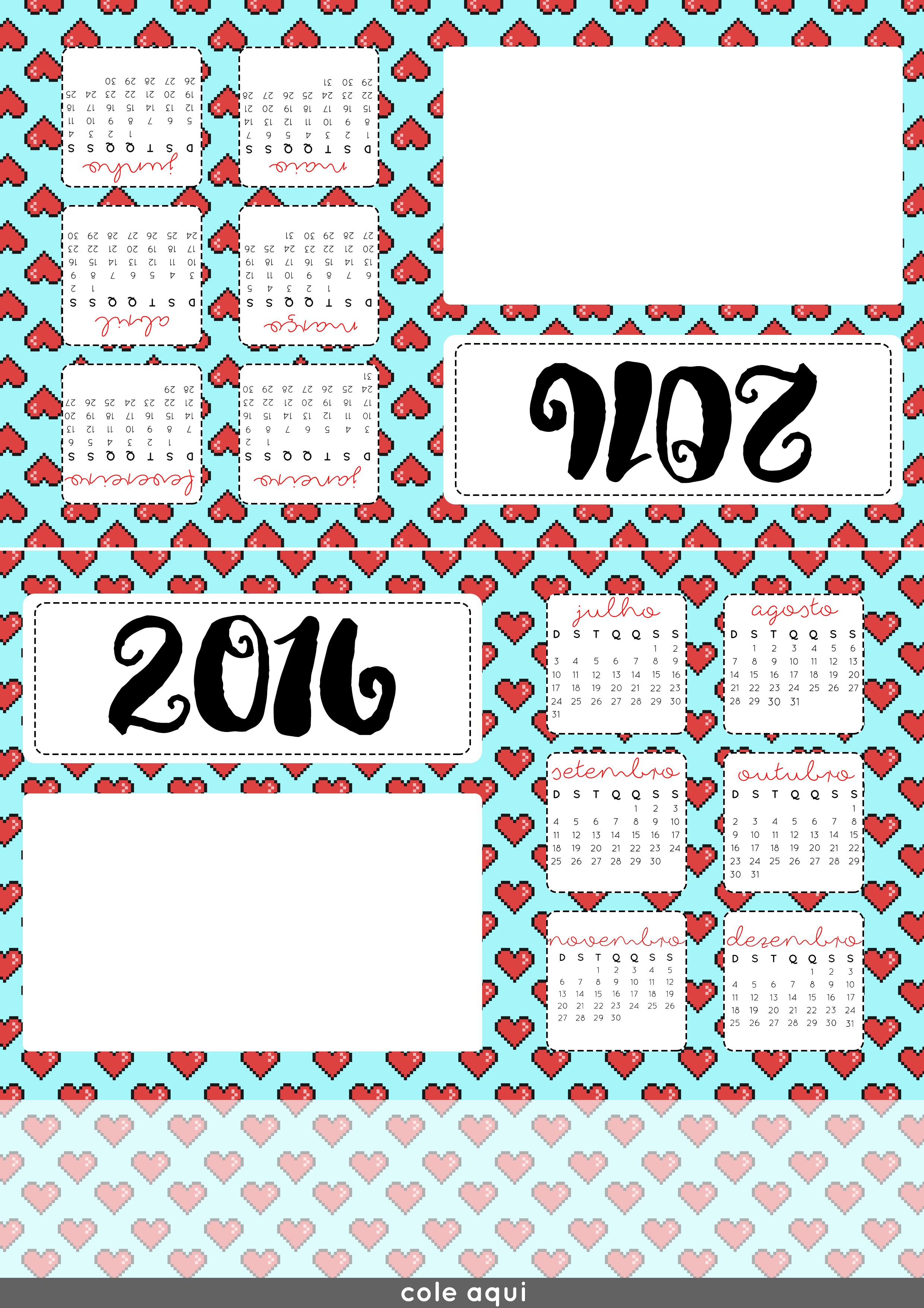 Calend rio de mesa com foto 2016 namorada criativa por - Calendario de mesa ...