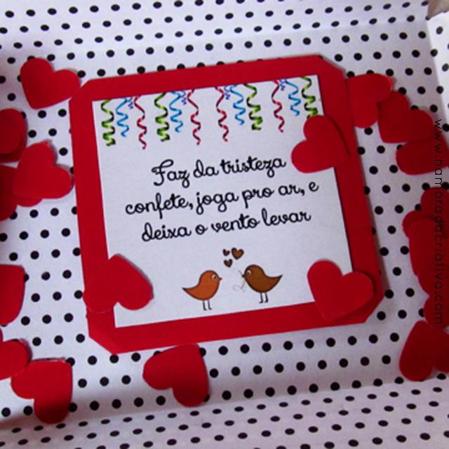 DIY Carnaval: Cartão fácil com confetes