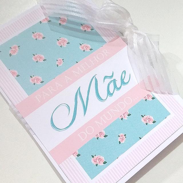 DIY Dia das mães/sogras: Cartãozinho Scrap