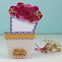 DIY: Cartão Flores [Dia das Mães e Dia da Sogra]