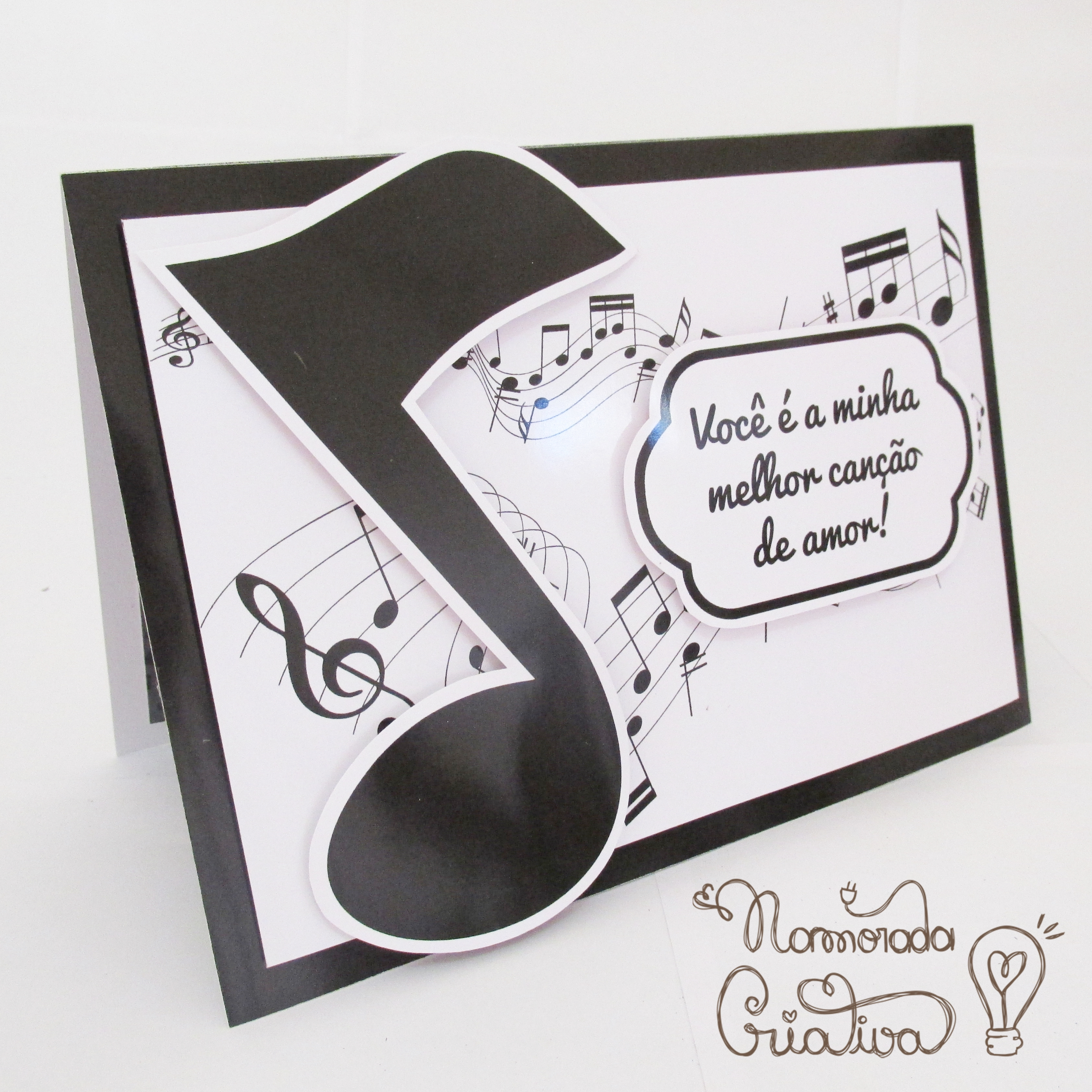 Diy Cartão Pop Up Canção De Amor Namorada Criativa Por Chaiene