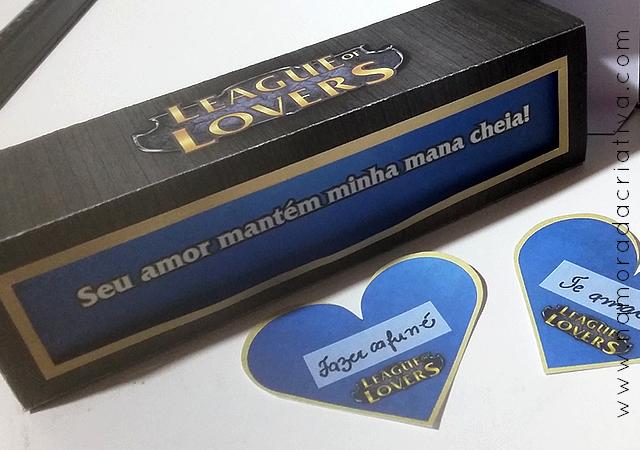DIY: Caixinha para namorado que joga League of Legends