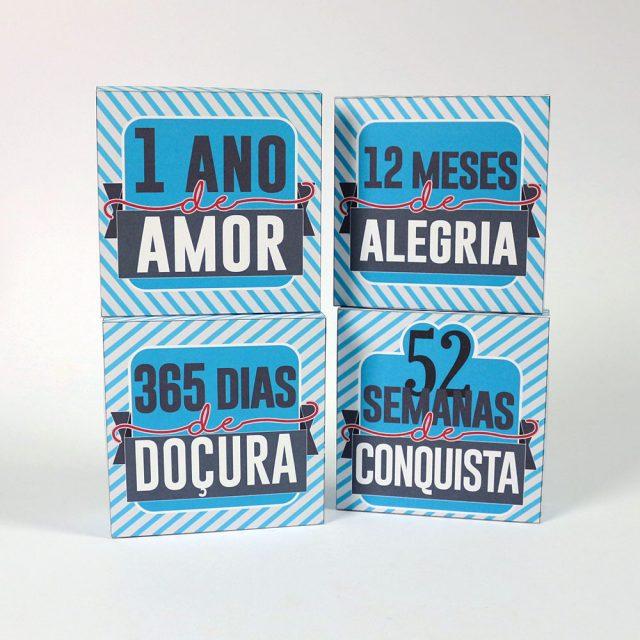 Diy Kit 1 Ano De Amor Namorada Criativa Por Chaiene Morais