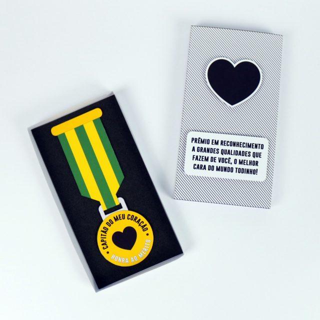 DIY: Medalha Capitão do Meu Coração