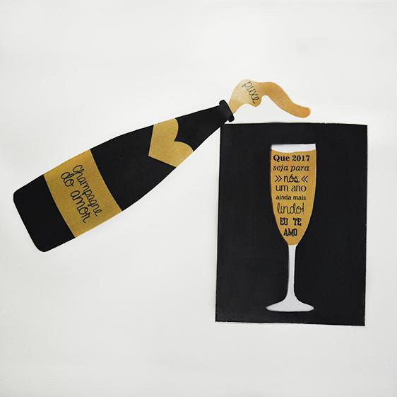 DIY: Cartão Champagne do Amor