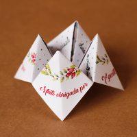 DIY: Cartão Agradecimentos e Desejos (Cootie Catcher)