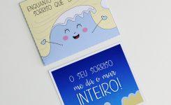 """DIY: Cartão """"Deu Onda"""""""