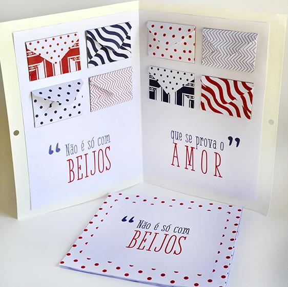 DIY: 2 modelos de cartão para o Valentine's Day