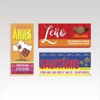 Páscoa: Rótulos para chocolate dos signos (elemento fogo)