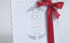 """DIY Dia dos Namorados: Livro """"100 coisas para fazer juntinhos"""""""