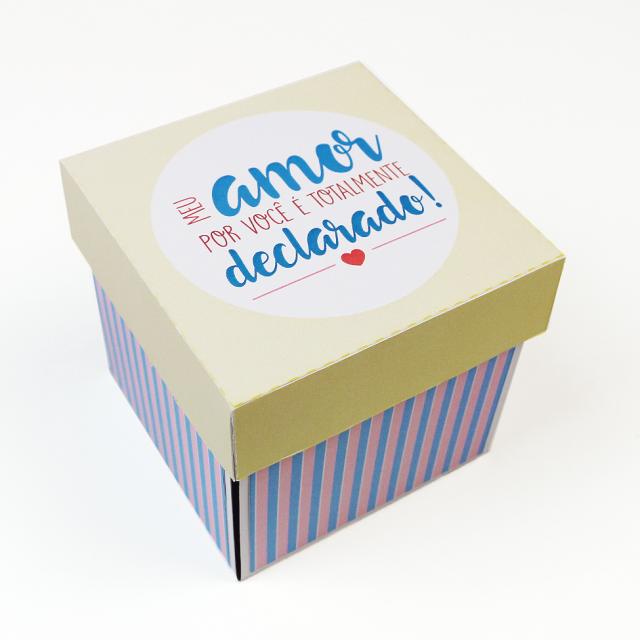 """DIY: Caixa Explosiva Ilustrada """"Amor Declarado"""""""