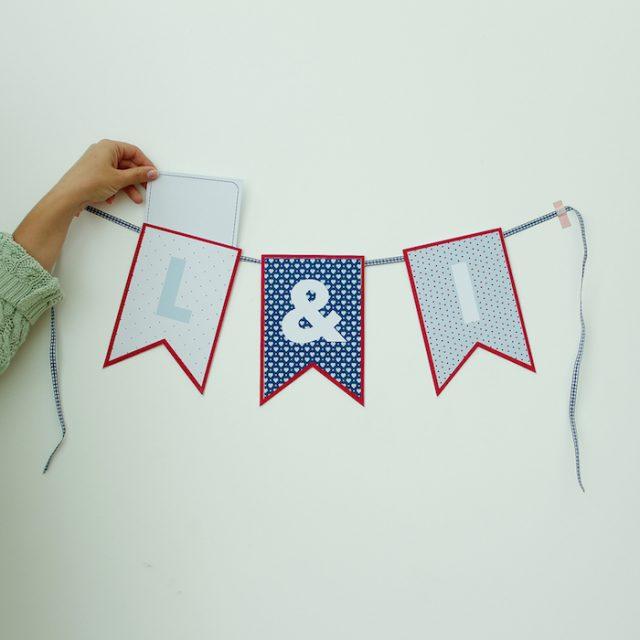 DIY Aniversário de Namoro: bandeirolas para contagem regressiva