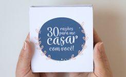 DIY: 30 Razões Para Me Casar Com Você